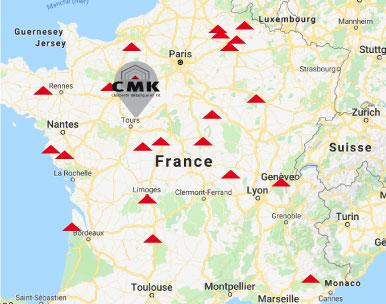 CMK intervient dans toute la France